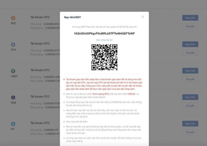 Hướng Dẫn Mua Bán Bitcoin từ Huobi OTC