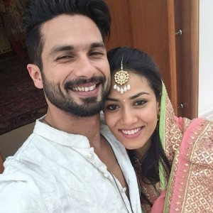 Shahid Kapoor posted selfie with Mira