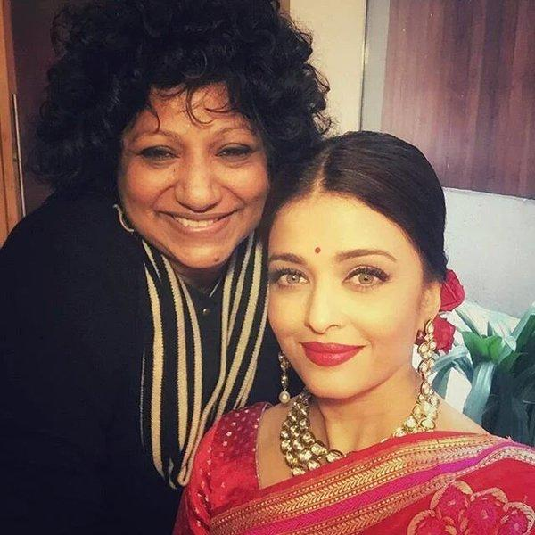 Aishwarya stuns in Red for the Grand Luncheon