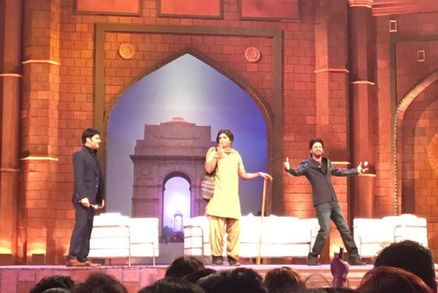 SRK, Kapil and Sunil Grover on the sets of 'The Kapil Sharma Show'