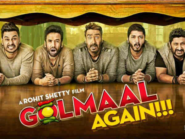Golmaal Again is the 59th movie to enter Bollywood's 100 crore club