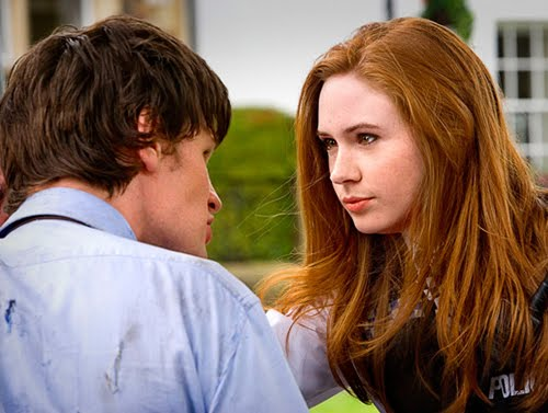 Matt Smith and Karen Gillan in their first story, The Eleventh Hour.
