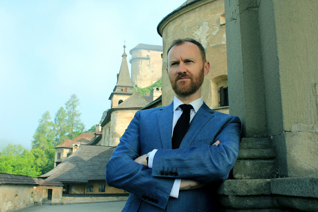 Horror Europa with Mark Gatiss - TX: n/a - Episode: n/a (No. n/a) - Embargoed for publication until: n/a - Picture Shows: Writer and actor Mark Gatiss outside Orava Castle in Slovakia – the original location for the film Nosferatu in 1922 Mark Gatiss - (C) BBC/Matt Thomas - Photographer: Matt Thomas