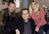 Christoper Eccleston, Russell T Davies and Billie Piper