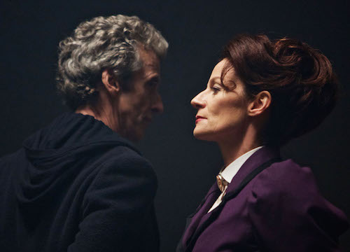 HE MAGICIAN APPRENTICE (By Steven Moffat) The Doctor (PETER CAPALDI), Missy (MICHELLE GOMEZ) - (C) BBC - Photographer: Simon Ridgway