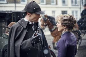 Sherlock - Sherlock Holmes (BENEDICT CUMBERBATCH), Mrs Hudson (UNA STUBBS) - (C) Hartswood Films - Photographer: Robert Viglasky