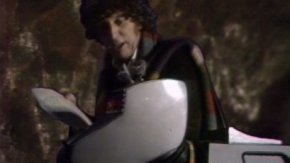 The Doctor (Tom Baker) and K9 - Doctor Who - Underworld (c) BBC