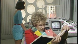 The Doctor and Peri on the TARDIS - Doctor Who - The Vengeance of Varos