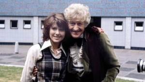 Elisabeth Sladen and Third Doctor Jon Pertwee