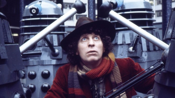 Tom Baker as the Forth Doctor