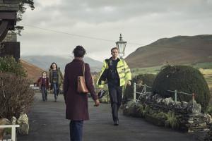 The A Word - Joe Hughes (MAX VENTO), Alison Hughes (MORVEN CHRISTIE), Nicola Daniels (VINETTE ROBINSON), PC Laing (LEE THOMAS) - (C) Fifty Fathoms - Photographer: ROry Mulvey