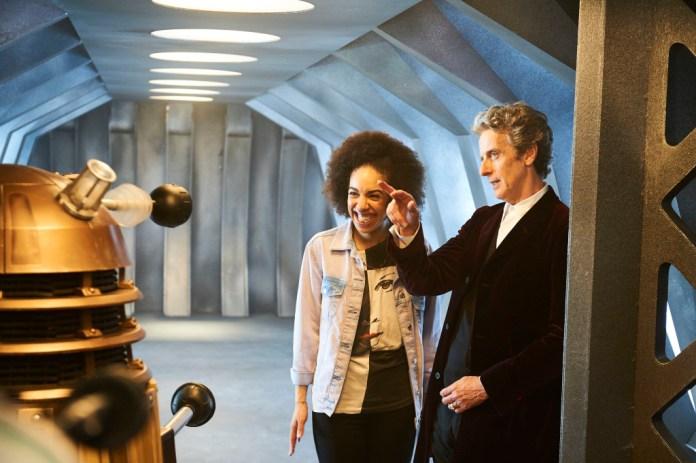 Doctor Who S10 - MEET PEARL MACKIE - THE DOCTOR'S NEW COMPANION Pearl Mackie, The Doctor (PETER CAPALDI) - (C) BBC - Photographer: Ray Burmiston