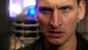 The Doctor (Christopher Eccleston) and a Dalek - Doctor Who - Dalek (c) BBC