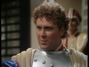 Colin Baker as Commander Maxil in 1983's The Arc of Infinity