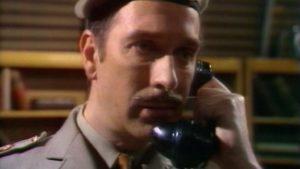 Brigadier Lethbridge-Stewart (Nicholas Courtney) - Doctor Who - Inferno (c) BBC