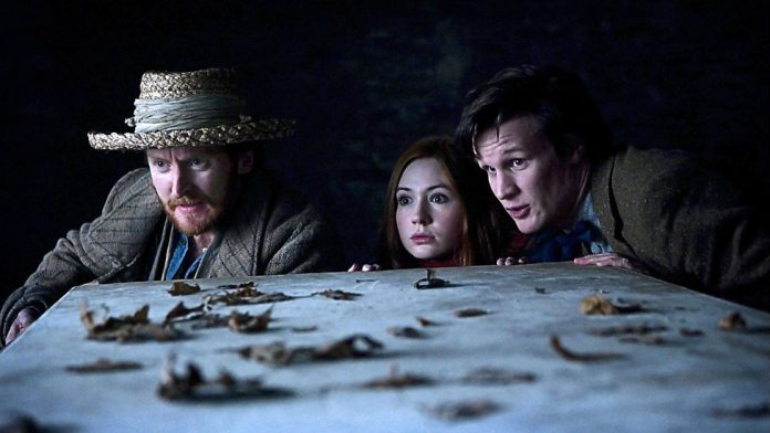 Vincent (Tony Curran), Amy Pond (Karen Gillian) and The Doctor (Matt Smith - Doctor Who - Vincent and the Doctor (c) BBC