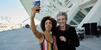 Peter Capaldi and Pearl Mackie on Set in Valencia, Spain - Doctor Who Series 10, Block 1, Episode 2 Filming - Photo : Copyright © Simon Ridgway, 25th July 2016