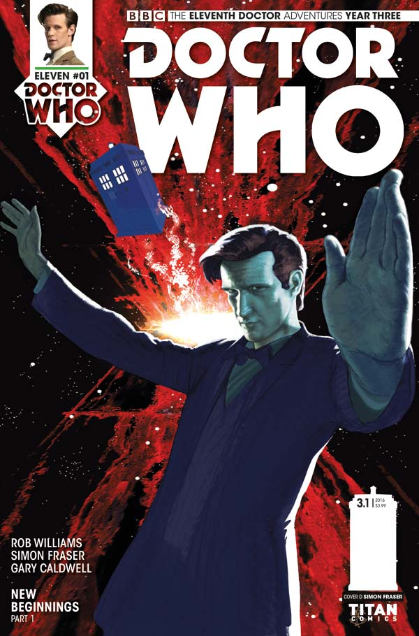 Doctor Who: The Eleventh Doctor Year Three #1 - Cover D by Simon Fraser