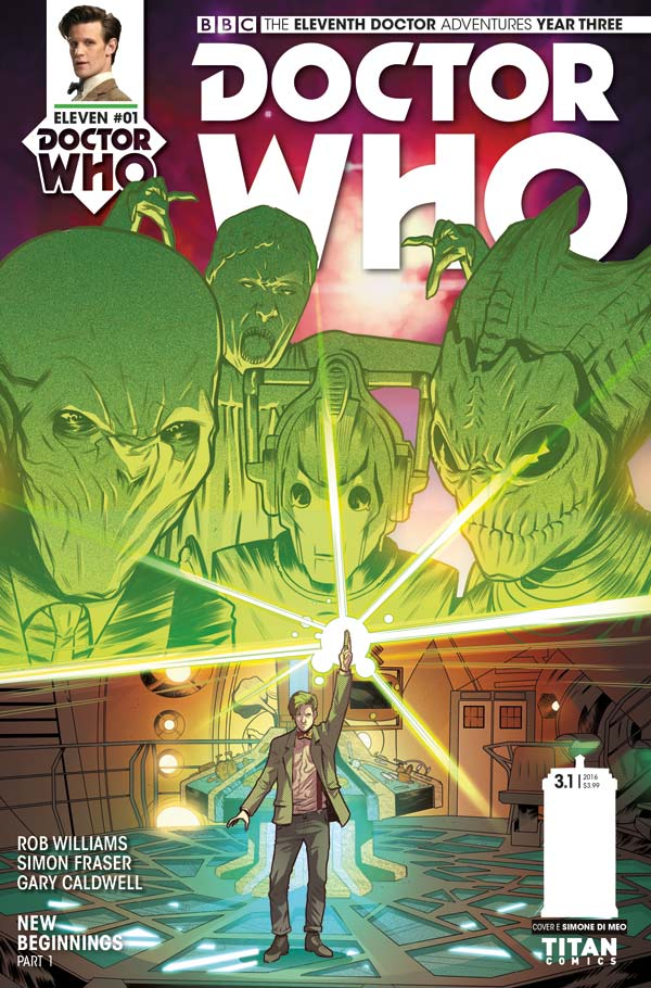 Doctor Who: The Eleventh Doctor Year Three #1 - Cover E by Simone Di Leo