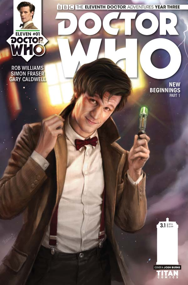 Doctor Who: The Eleventh Doctor Year Three #1 - Cover A Josh Burns