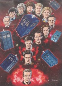 Artwork by Lee Sullivan on show at London Film and Comic Con July 2016