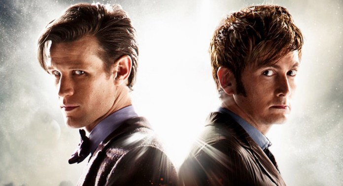 Matt Smith and David Tennant - Doctor Who - The Day of the Doctor Promo (c) BBC