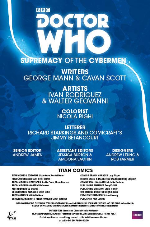 TITAN COMICS - DOCTOR WHO: SUPREMACY OF THE CYBERMEN #2 CREDITS