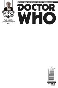 DOCTOR WHO: THIRD DOCTOR #1 COVER D Blank Sketch Variant