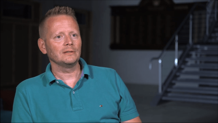 Patrick Ness, creator and writer of Doctor Who spin-off 'Class' (c) BBC Screen capture
