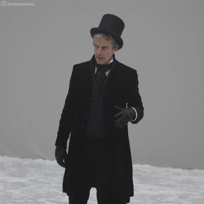 Peter Capaldi Behind the Scenes of Doctor Who Series 10 (c) BBC