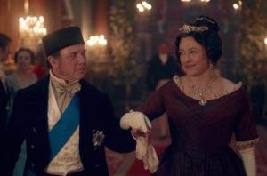 Duke of Sussex (DAVID BAMBER) and Lady Cecilia Buggins (DAISY GOODWIN) - Victoria Episode 6 (ITV)