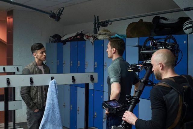 Class - Ep2 - Ram (FADY ELSAYED), Coach Dawson (BEN PEEL) - (C) BBC - Photographer: Simon Ridgeway