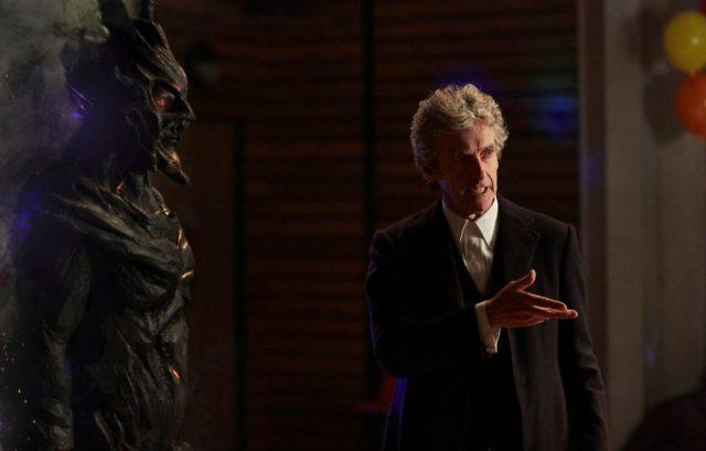 Class - Ep1 (L-R) Corikinus (PAUL MARK DAVIES), The Doctor (PETER CAPALDI) - (C) BBC - Photographer: Simon Ridgeway