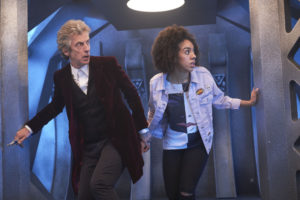 The Doctor (Peter Capaldi) and Pearl Mackie (Bill Potts) - Doctor Who Series 10 Episode 1 (c) BBC