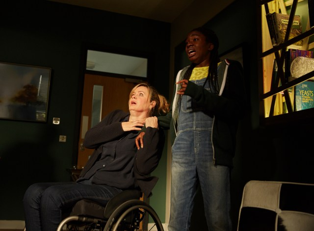 Class - Ep5 (No. 5) - Picture Shows: Jackie (SHANNON MURRAY), Tanya (VIVIAN OPARAH) - (C) BBC - Photographer: Simon Ridgeway