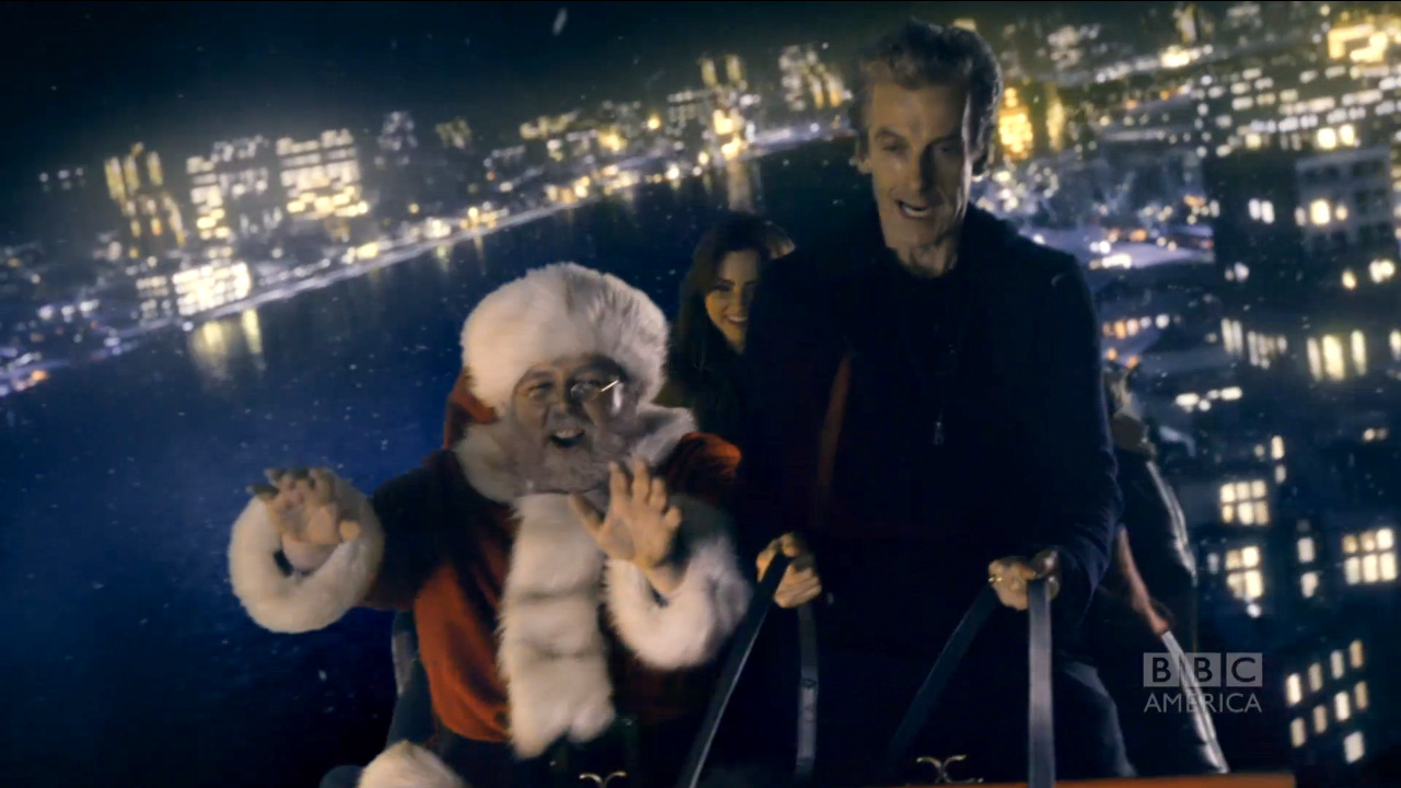 Doctor Who Last Christmas.On This Day In 2014 Last Christmas First Aired Blogtor Who