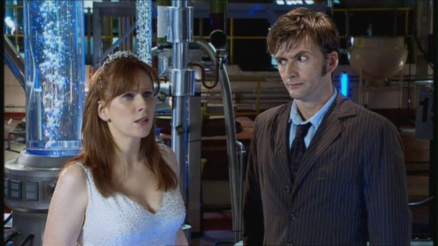 David Tennant as The Doctor and Catherine Tate as Donna Noble in Doctor Who The Runaway Bride - 2006 (c) BBC
