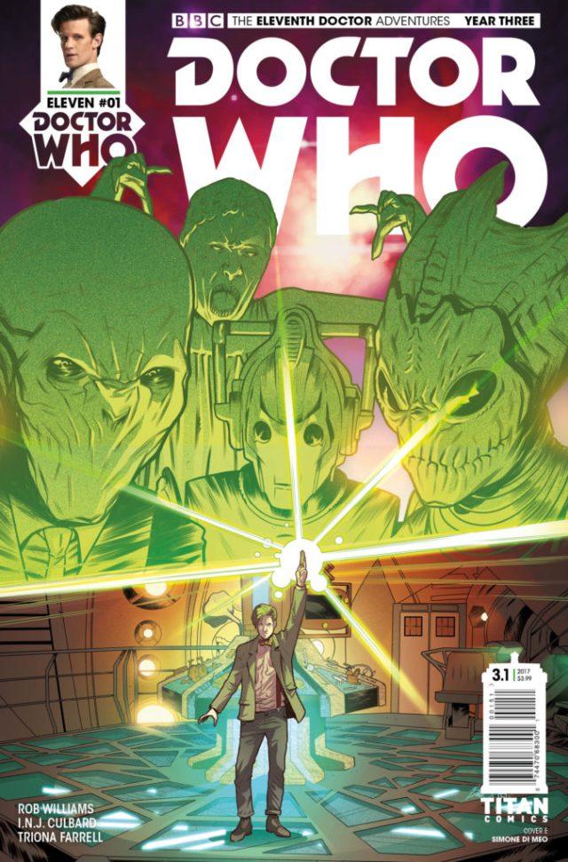 TITAN COMICS - DOCTOR WHO ELEVENTH DOCTOR YEAR THREE #1 - COVER E – Simone Di Leo