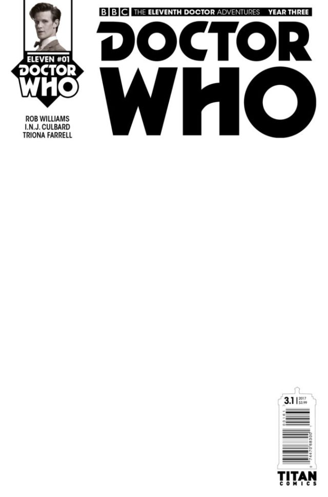 TITAN COMICS - DOCTOR WHO ELEVENTH DOCTOR YEAR THREE #1 - COVER F – Blank Sketch Variant
