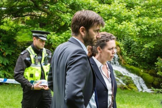 DI Alec Hardy (David Tennant) and DS Ellie Miller (Olivia Colman) - Broadchurch Series 3 Episode 1 (c) ITV