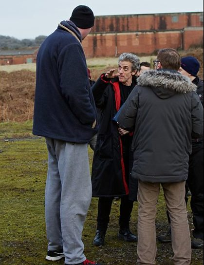 Peter Capaldi and Neil Fingleton - behind the Scenes - Doctor Who Series 9 - Before the Flood c) BBCPeter Capaldi and Neil Fingleton - behind the Scenes - Doctor Who Series 9 - Before the Flood c) BBC