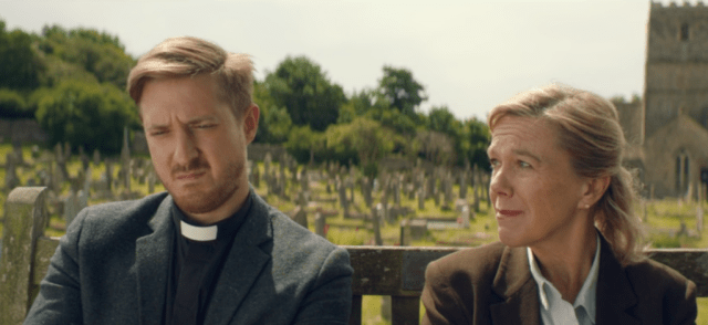 Rev Paul Coates (Arthur Darvill) and Maggie Radcliffe (Carolyn Pickles) Broadchurch Series 3 Episode 2 (c) ITV