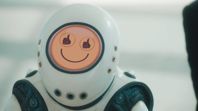 Doctor Who S10 - Picture Shows: Emojibot - (C) BBC - Photographer: screen grabs