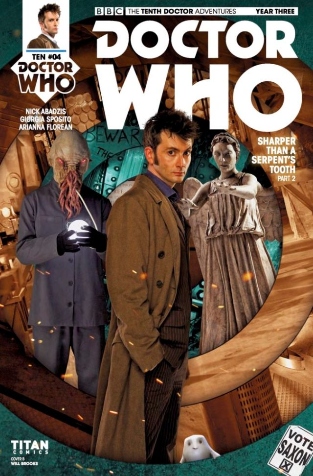 TITAN COMICS - DOCTOR WHO: THE TENTH DOCTOR YEAR THREE #4 COVER B BY WILL BROOKS