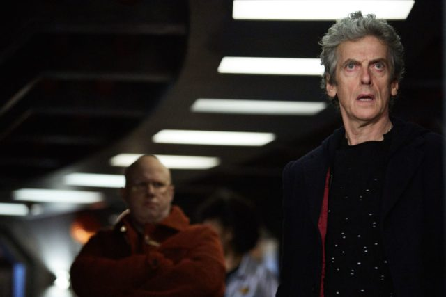 Doctor Who S10 - TX: 13/05/2017 - Episode: Oxygen (No. 5) - Picture Shows: Nardole (MATT LUCAS), The Doctor (PETER CAPALDI) - (C) BBC/BBC Worldwide - Photographer: Simon Ridgway