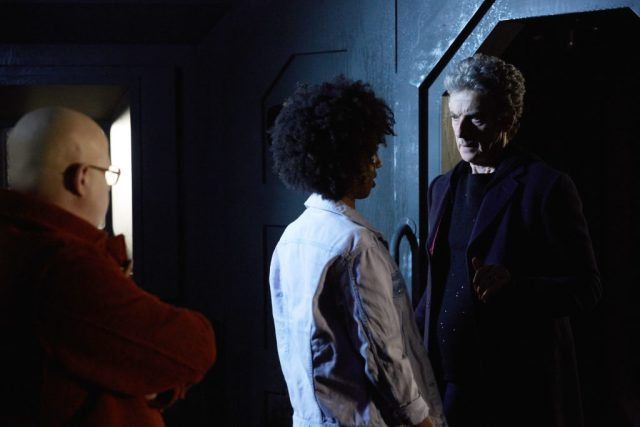 Doctor Who S10 - TX: 13/05/2017 - Episode: Oxygen (No. 5) - Picture Shows: Nardole (MATT LUCAS), Bill (PEARL MACKIE), The Doctor (PETER CAPALDI) - (C) BBC/BBC Worldwide - Photographer: Simon Ridgway