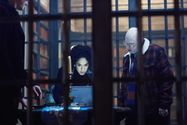 Doctor Who - Extremis - The Doctor (PETER CAPALDI), Bill (PEARL MACKIE), Nardole (MATT LUCAS) - (C) BBC/BBC Worldwide - Photographer: Simon Ridgway