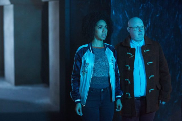 Doctor Who S10 - TX: 27/05/2017 - Episode: The Pyramid At The end Of The World (No. 7) - Picture Shows: Bill (PEARL MACKIE), Nardole (MATT LUCAS) - (C) BBC/BBC Worldwide - Photographer: Simon Ridgway