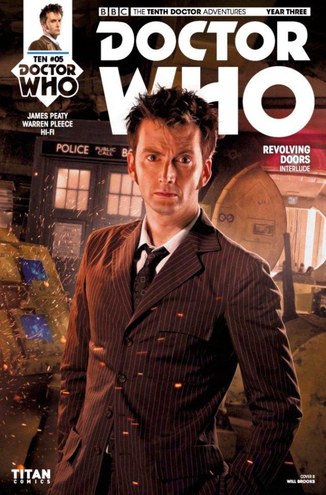 TITAN COMICS - TENTH DOCTOR YEAR THREE #5 COVER B: WILL BROOKS