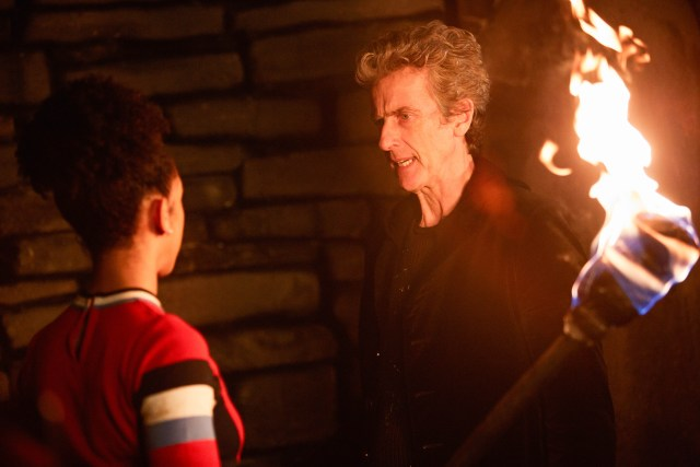 Doctor Who S10 - The Eaters of Light (No. 10) - The Doctor (PETER CAPALDI), Bill (PEARL MACKIE) - (C) BBC/BBC Worldwide - Photographer: Simon Ridgway